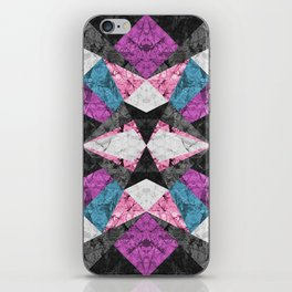 Marble Geometric Background G438 iPhone Skin