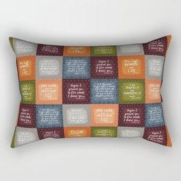 Baby Bible Verse Quilt Rectangular Pillow