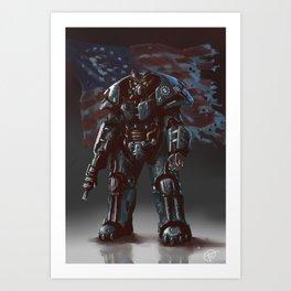 Enclave trooper Art Print