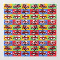 mini cooper Canvas Prints featuring mini cooper by Pedro Vale