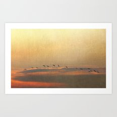 Sunset Flight Art Print