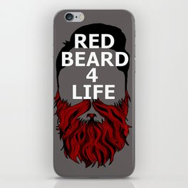 Red Beard for Life iPhone Skin