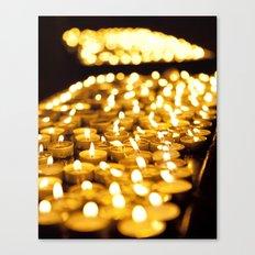 Prayer Candles in Church, Israel  Canvas Print