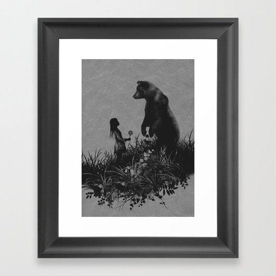 The Bear Encounter Framed Art Print