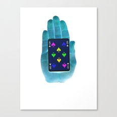 Hand Of Cards Canvas Print