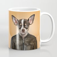 chihuahua Mugs featuring Chihuahua  by Life on White Creative
