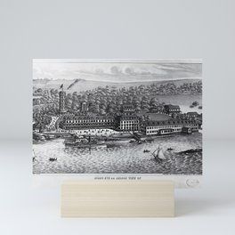 1849 Rocky Point Amusement Park Lithograph - Warwick, Rhode Island Mini Art Print