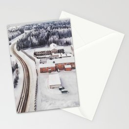 Winter view from the sky Stationery Cards