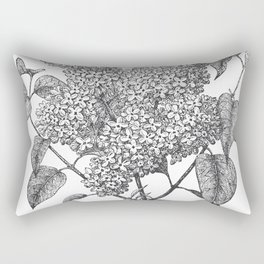 Vintage Lilac Bush Rectangular Pillow