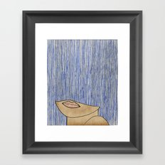 Rain Girl Framed Art Print