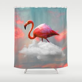 My Home up to the Clouds Shower Curtain
