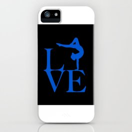 Gymnast Love iPhone Case