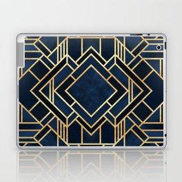 Art Deco Fancy Blue Laptop & iPad Skin