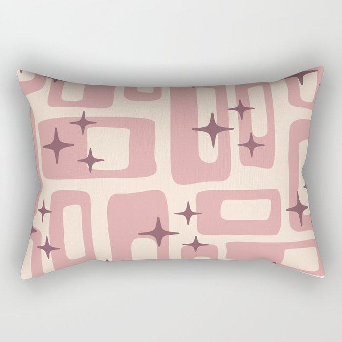 Retro Mid Century Modern Abstract Pattern 577 Dusty Rose Rectangular Pillow