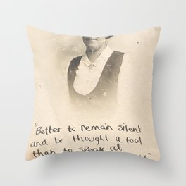 The Quote and the Photograph Throw Pillow