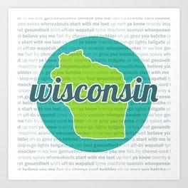 Words of Wisconsin Art Print