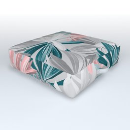 Seamless Calm Pattern Floral Leaves Outdoor Floor Cushion