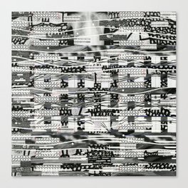 The System Affects The Information That Flows Through It (P/D3 Glitch Collage Studies) Canvas Print