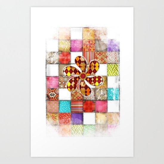 Lady Patchwork (Bulgarian Love) Art Print