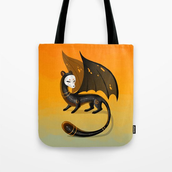 Black Stoat Tote Bag
