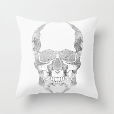 Skull BW Throw Pillow
