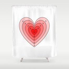 Heart target Shower Curtain