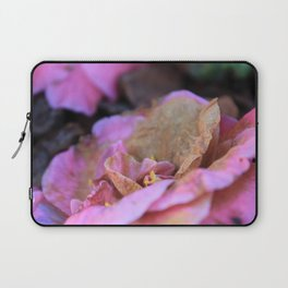 Details of a pink camelia Laptop Sleeve
