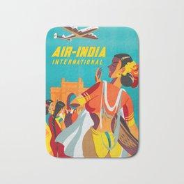 Air-India International - Vintage Airline Poster Bath Mat