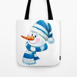 Blue Snowman 01 Tote Bag