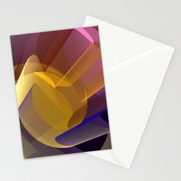 Modern colourful abstract with optical effects Stationery Cards