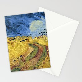 Wheatfield with Crows by Vincent van Gogh Stationery Cards