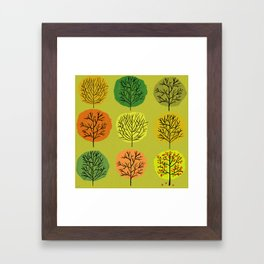 Tidy Trees All In Pretty Rows Framed Art Print