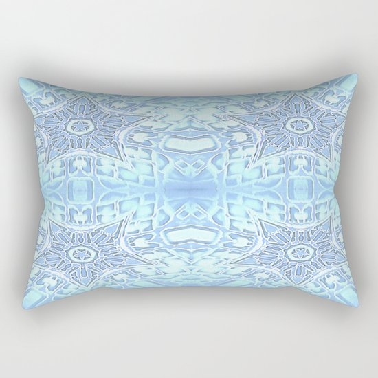 Frozen Blue Stars Rectangular Pillow