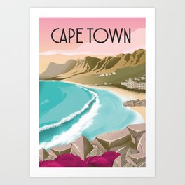Cape Town | Vintage Travel Poster | Enhanced Matte Paper perfect for your wall ! Sizes: (inches) Art Print