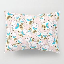 Maneki-neko good luck cat pattern Pillow Sham