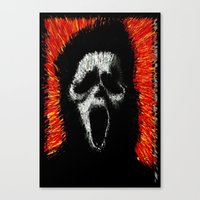 scream Canvas Prints featuring Scream by brett66