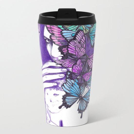 Amongst Butterflies Metal Travel Mug