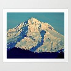 MT. HOOD - AT TWILIGHT Art Print