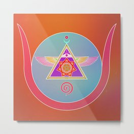 Serpentfire Sigil Tan Metal Print