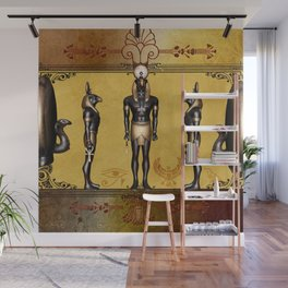 Horus Egyptian deities. Wall Mural