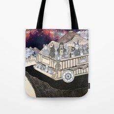 Animals on a Wagon Tote Bag