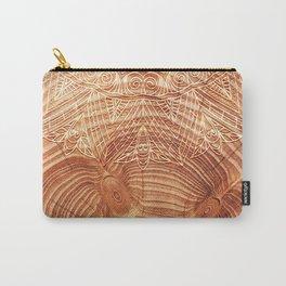 Mandala Wood I Carry-All Pouch