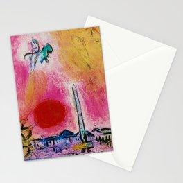 Paris, Place de la Concorde landscape painting by Marc Chagall Stationery Cards