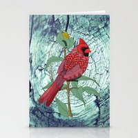 virginia Stationery Cards featuring Virginia Cardinal by ArtLovePassion