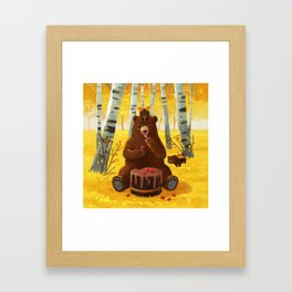 Chocolate cake and the bears Framed Art Print