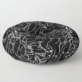 Fifty shades of Love (Dark) Floor Pillow