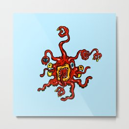 Are you ill? Check your Germs! Red Slurple Metal Print