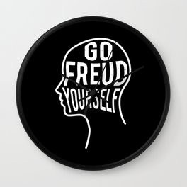 Funny Psychologist Gift - Go Freud Yourself Wall Clock