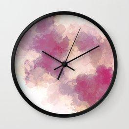 Mauve Dusk Abstract Cloud Design Wall Clock