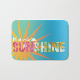 A Little Sunshine Bath Mat
